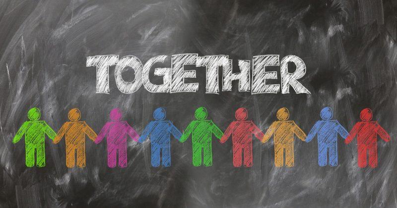 teams together