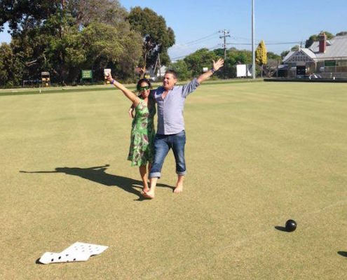 barefoot bowls social event