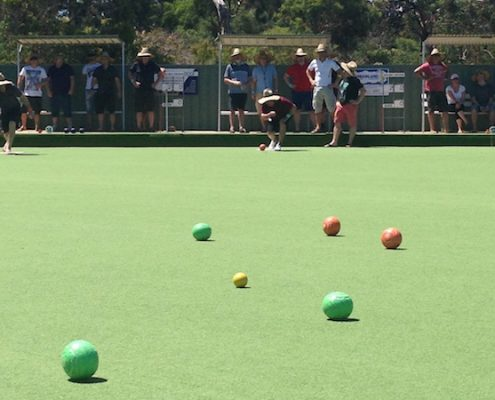 barefoot bowls team building