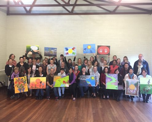 Team Building Painting Event