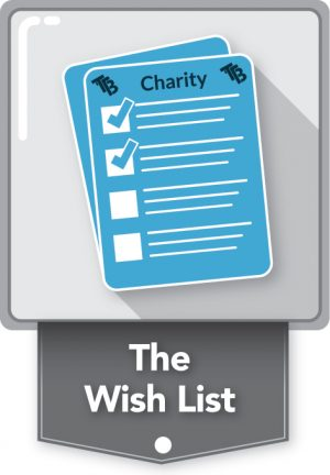 the wish list charity team building