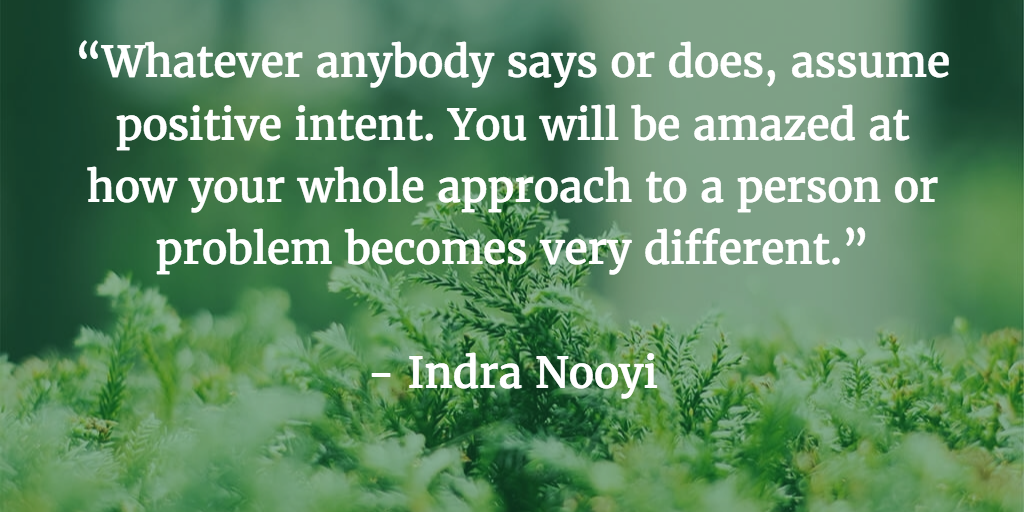 positive intent quote