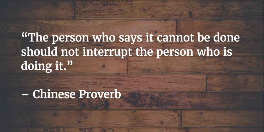 don't interrupt person doing it quote