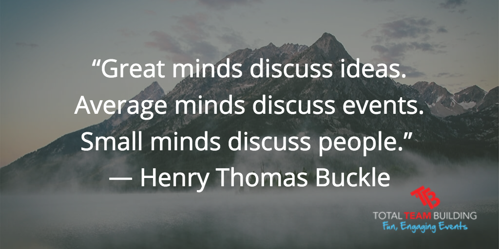 great minds discuss ideas quote